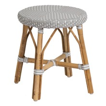 Simone Dining Stool by Sika in Grey with White Dots