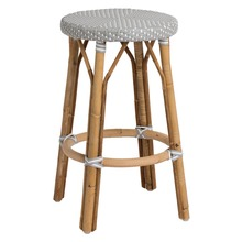 Simone Counter Stool, Grey with White Dots