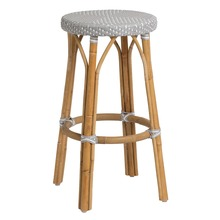 Simone Bar Stool by Sika Design in Grey with White Dots