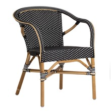 Madeleine Arm Chair By Sika Black with White Dots