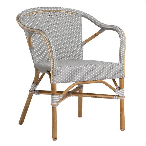 Madeleine Arm Chair by Sika Grey with White Dots
