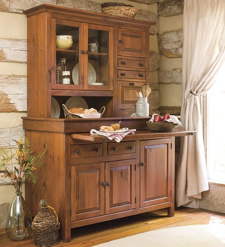 storage finish kitchen room country garden oak bhp hutches style home ebay glass hutch top wood dining