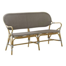 Isabell Bench Cappuccino with White Dots