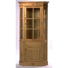 More about the 'Southern Pine Glass Front Corner Cupboard' product