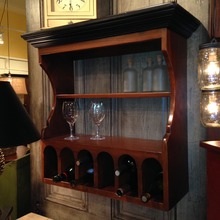 Hanging Wooden Wine Cupboard
