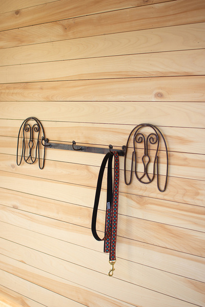 Recycled Rustic Metal Coat Rack  -  Dog