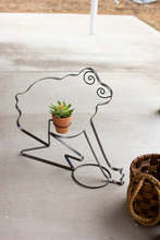 More about the 'Recycled Metal Frog Planter' product