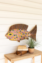 More about the 'Recycled Twig And Bottle Cap Fish Wall Art' product