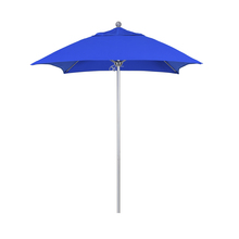 Square umbrella with silver pole