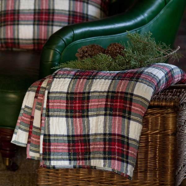 Aberdeen Quilted Throw is made from a beautifully woven Scottish tartan plaid.