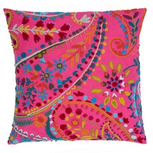 Amelie Fuchsia Embroidered Decorative