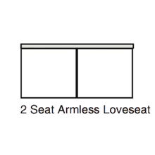 Armless Loveseat for sectional