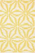 Aster Gold Hooked Wool Rug