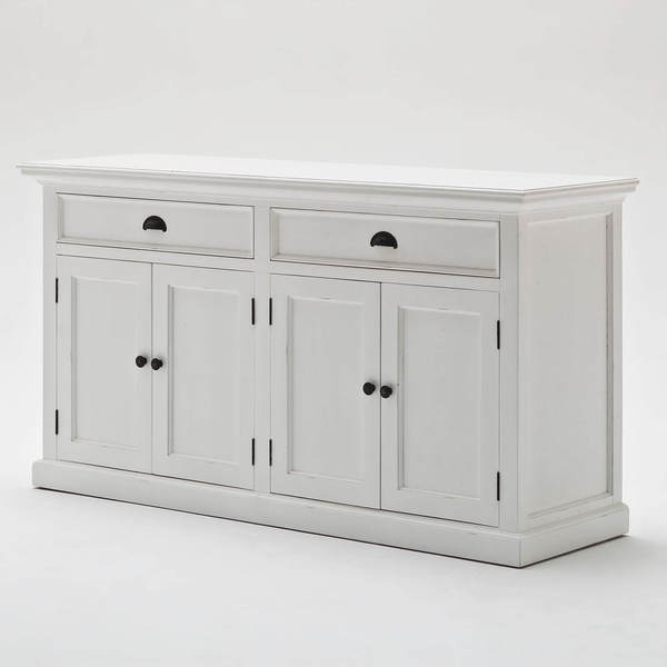 White Buffet with 4 doors - side view
