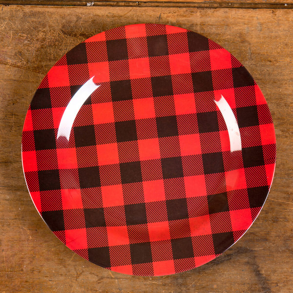 "12"" Red & Black Check Charger"