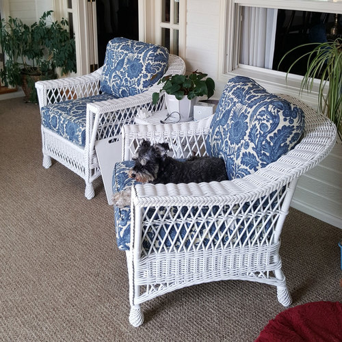 Bar Harbor Wicker Arm Chair At American Country