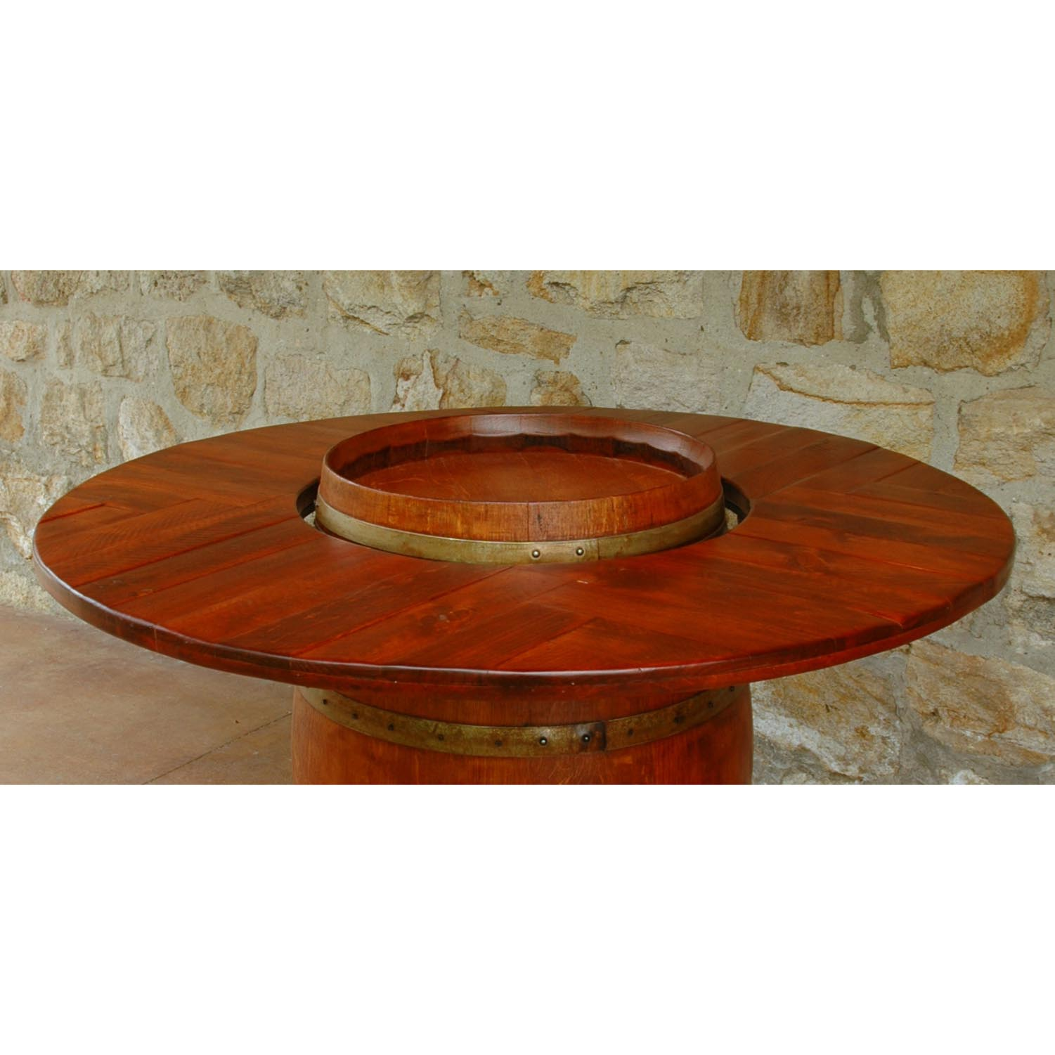 Wine Barrel Table Top American Country