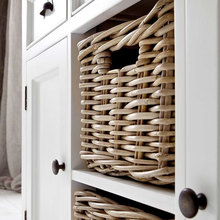 Basket in cabinet