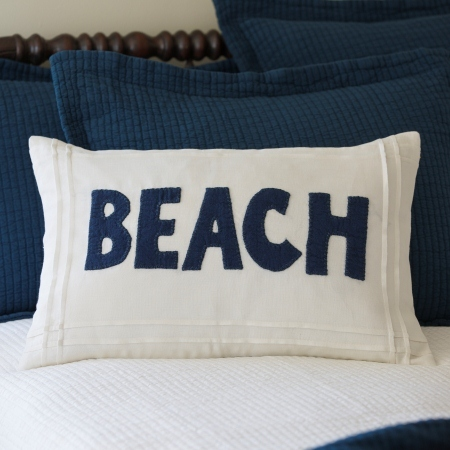 Beach White Linen Lumbar