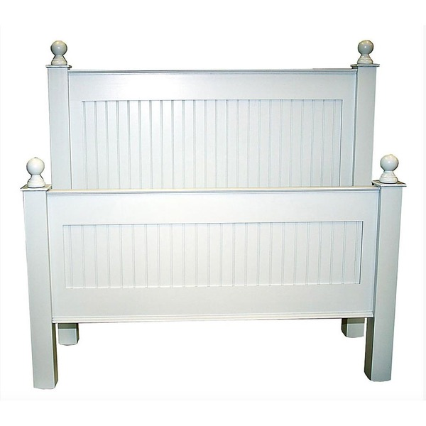 Cottage Beadboard Bed in Snow White