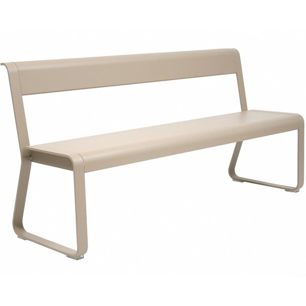 Bellevie Bench with Backrest - nutmeg
