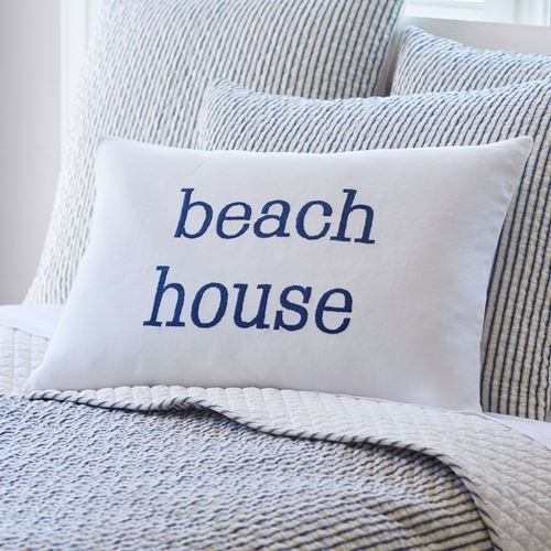 Bergen Indigo Beach House Pillow