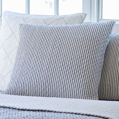 Bergen Indigo Euro Pillow