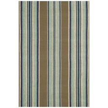 Blue Heron Stripe Woven Cotton Rug