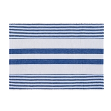 Blue stripe placemat
