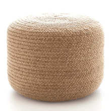 Pouf-Braided Natural