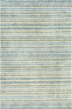 Brindle Stripe Sea Hand Knotted Wool Rug