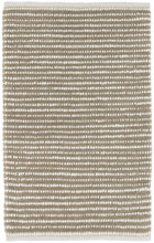 Brushed Stripe Mocha Woven Wool Rug