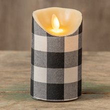 "5"" Buffalo check candle"