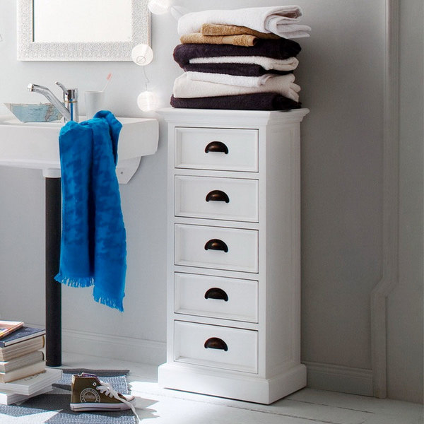 5 Drawer storage tower in bath
