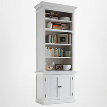 The Copenhagen hutch comes in three different sizes, all with adjustable shelving.
