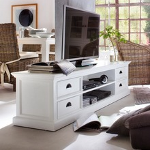 Large entertainment unit in white finish