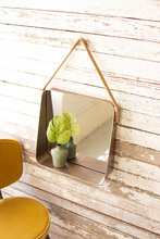 More about the 'Square Metal Wall Mirror Shelf With Cotton Hanger' product