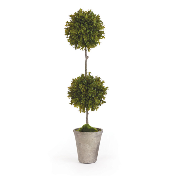 Barclay Butera Faux Boxwood Topiary Potted 25""