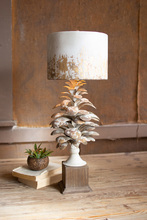 More about the 'Table Lamp With Pine Cone Base And Metal Barrel Shade' product