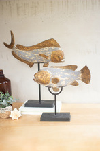 More about the 'Set Of Two Painted Resin Fish On Stands' product