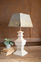 More about the 'Table Lamp With Painted Wooden Base And Rectangle Metal Shade' product