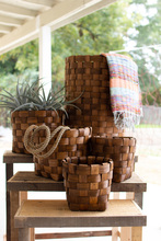 More about the 'Set Of Five Nesting Round Chipwood Baskets' product