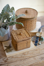 More about the 'Set Of Two Round And Square Woven Cane Boxes' product