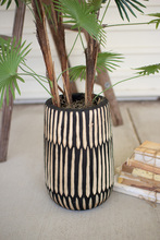 More about the 'Hand Carved Black And Whitewooden Vase  -  Large' product