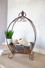 More about the 'Rustic Metal Basket On A Stand' product