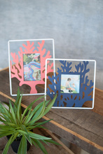 More about the 'Set Of Two Painted Metal Coral Photo Frames' product