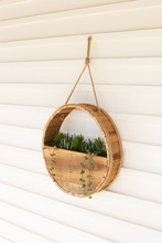 More about the 'Round Recycled Wood Wall Planter With Rope Hanger' product