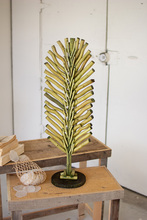 More about the 'Recycled Wood Tabletop Leaf Decor With Base  -  Green' product