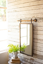 More about the 'Rectangle Wall Mirror With Wooden Dowel Hanger' product