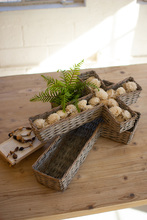 More about the 'Set Of Two Wicker Cross Baskets  -  Grey' product